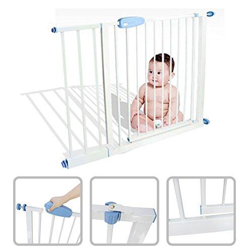 Todeco - Cancelletto Di Sicurezza Per Bambini, Cancelletto Regolabile Per Porte - Larghezza: 74-87...
