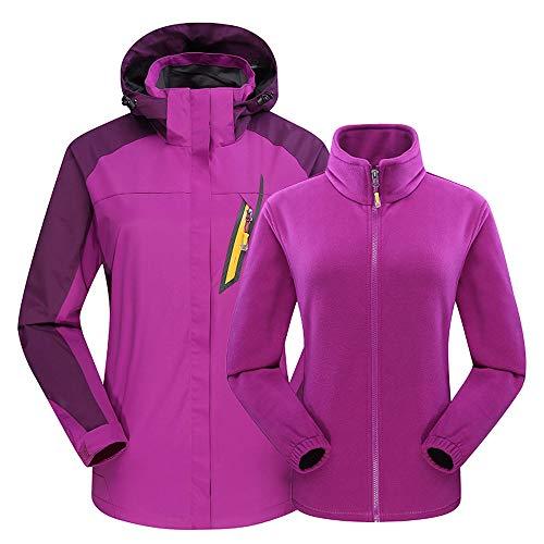 Selou Damenbekleidung Winterkleidung Freien Zweiteilige Oberseite Wasserdichte Drei Eins Jacke...