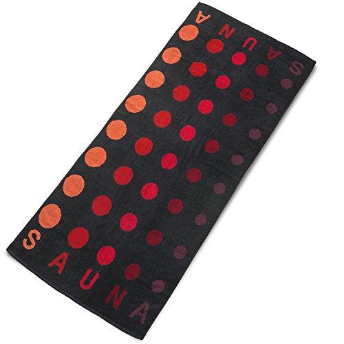 aqua-textil Point Saunatuch/Badetuch 80 x 200 cm Baumwolle Frottee Handtuch 0010973 schwarz (Baumwoll-frottee-badelaken)