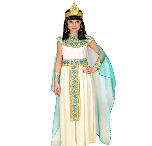 Widmann cleopatra vestito con cintura collare braccialetti copricapo mantello 116 per adulti, multicolore, 158 cm / 11-13 anni, 8003558494286