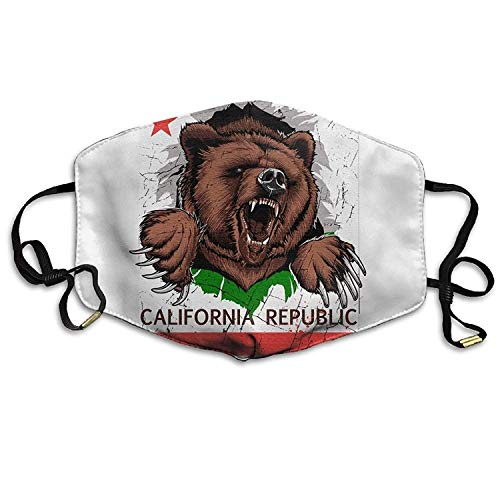 Off Womens Cap (Fashion Outdoor Mouth Mask with Design, Reusable Half Face Mask Anti-dust Mask, Adult California Republic Bear Flag Mouth Face Masks Women Printed Motorcycle Anti Dust Face Mouth Mask-Reusable Mens)