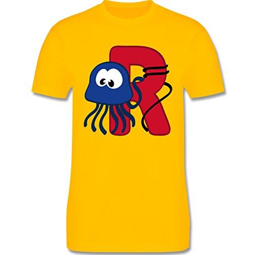 Anfangsbuchstaben - R Schifffahrt - Herren Premium T-Shirt Gelb