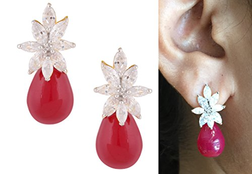 swasti-jewels-floral-zircon-cz-red-stones-fashion-jewelry-floral-stud-earrings-for-women-red