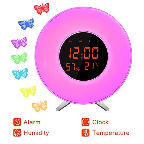Reloj despertador Sunrise X-70/ Función Snooze/Pantalla