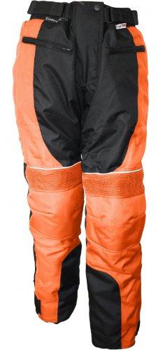 Damen Motorradhose Textil hose Kombigeeignet Orange, Größe:L