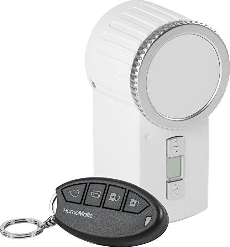 HomeMatic Funk-Türschlossantrieb Keymatic-Set inkl. Funk-Handsender, weiß, 151137A0 (Außerhalb Türschloss)