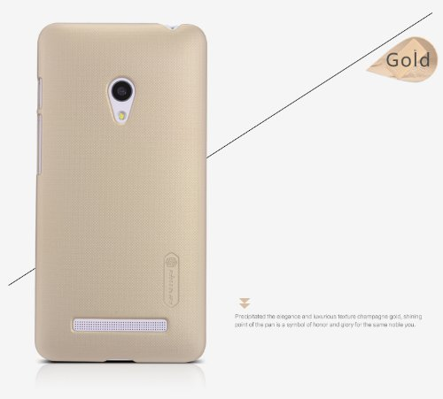 NILLKIN FROST Shield Hard Bumper Back Case Cover, Free Screen Guard For Asus Zenfone C ZC451CG - Gold  available at amazon for Rs.319