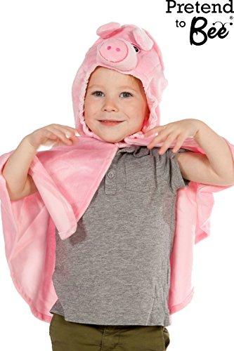 Kinder, Kleinkinder, Pig Cape Kostüm 3-6 Jahre - Little Pig Kleinkind Kostüm