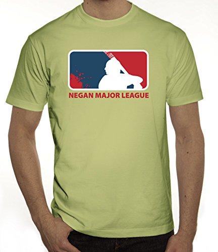 Zombie Serie Herren T-Shirt mit Negan Major League Motiv von ShirtStreet  Limone