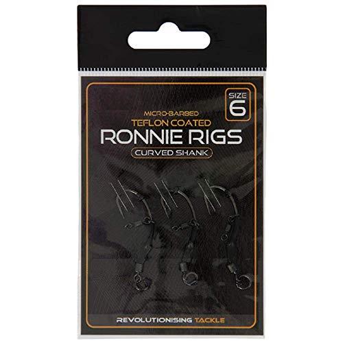 g8ds® 3er Packung Ronnie Rigs Größe 6 fertig gebunden ideal für pop ups Karpfen Angeln Ready Rig
