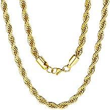21e9c40bf6c1 cadenas de oro para hombre - 3 estrellas y más - Amazon.es
