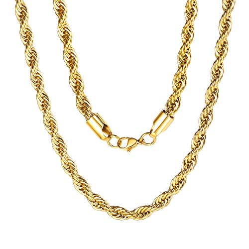 ChainsPro 6mm Panzerkette Silber 925 Vergoldet Diamantiert Gold Halskette Herren Damen mit Box
