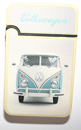 Volkswagen Designs Feuerzeug Elektronisches Gas Nachfüllbar VW Camper VW Käfer Blau Jet Flame