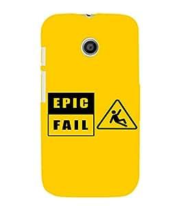 EPICCASE Epic Fall Mobile Back Case Cover For Moto E (Designer Case)