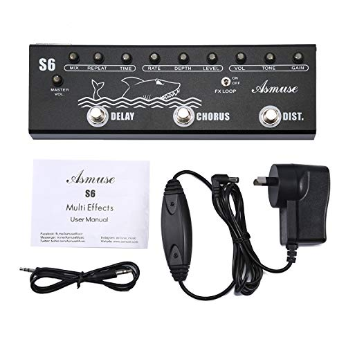 Asmuse Multi-Effects Pedal Effektpedal-Gitarre Chorus Distortion Delay Effect fur Elektrische Gitarre Bass Mixer Di Funktion Multifunktionswerkzeug