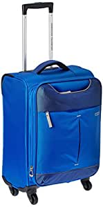 American Tourister Sky Polyester 55Cms Blue Soft Sided Suitcase (25R (1) 31 001)