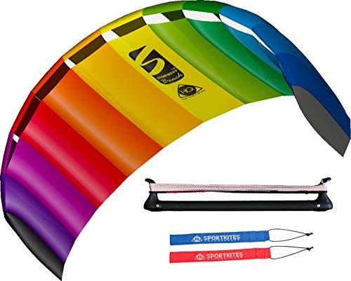 colourliving Lenkmatte mit Bar Symphony Beach III 1.8 Sport Plus incl. Controlbar und Lenkschlaufen 2 in 1 komplett Set