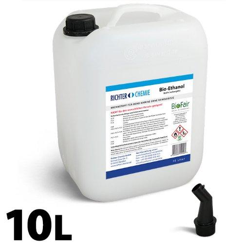 10L Bioethanol 100% - Markenprodukt BioFair - geprüfte Laborqualität - GRATIS VERSAND