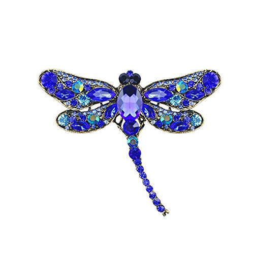 IVERIRMIN Strass Brosche Legierung Vintage Tier Libelle Revers Pin weiblich