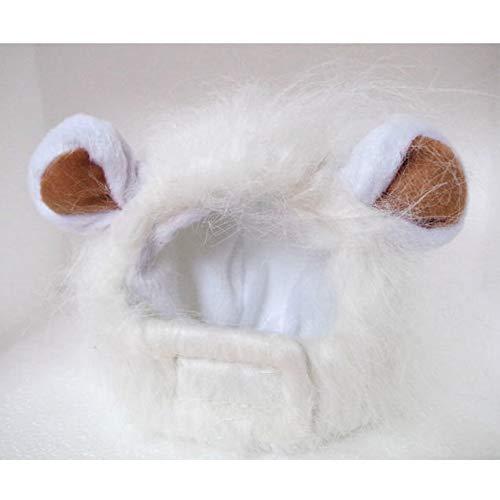 LBAFS Pet Perücke Cap , Lustiges Haustier Kostüm Cosplay Lion Mane Hat Für Katzen Hund Nette Halloween Weihnachten Haustier Geschenke,E