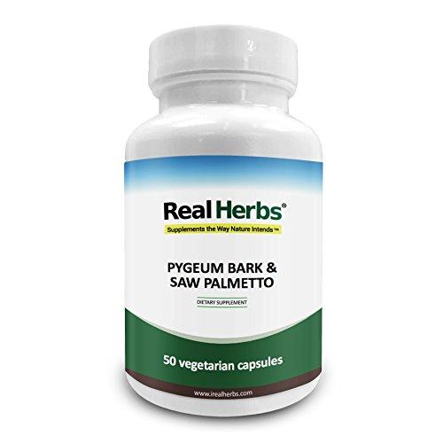 Real Herbs Pygeum Extrakt4:1 350mg Sägepalme Extrakt3:1 350mg-700mg - fördert die Gesundheit der Prostata, unterstützt die Gesundheit der Harnwege, steigert die sexuelle Funktion-50 vegetarische Kapseln