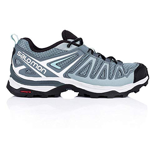 Salomon X Ultra 3 Prime W, Stivali da Escursionismo Donna, (Lead/Stormy Weather/Canal Blue 000), 39 1/3 EU