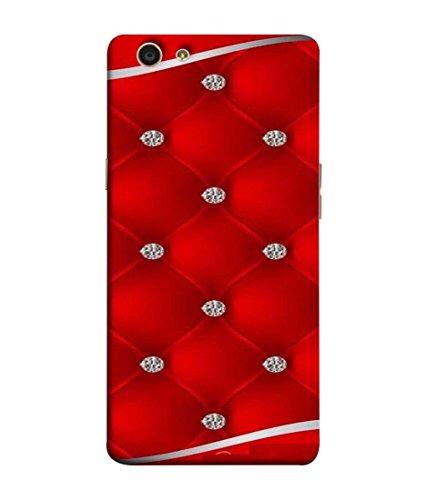 the latest 6f346 46d4d Samken Diamond on Red Leather Designer Printed Unique Mobile Phone Back  Cover Case (3D Protection, Slim Fit, Shock Proof, Hard Plastic, Matte  Finish) ...