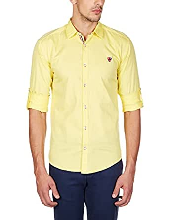 GHPC Men's 100% Cotton Full Sleeves Slim Fit Casual Shirt