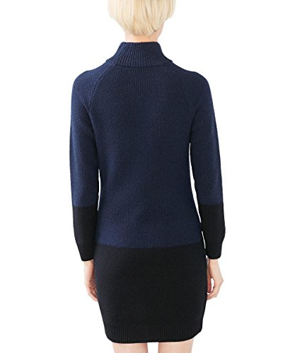 edc by Esprit 106cc1e009, Robe Femme Bleu (Navy)