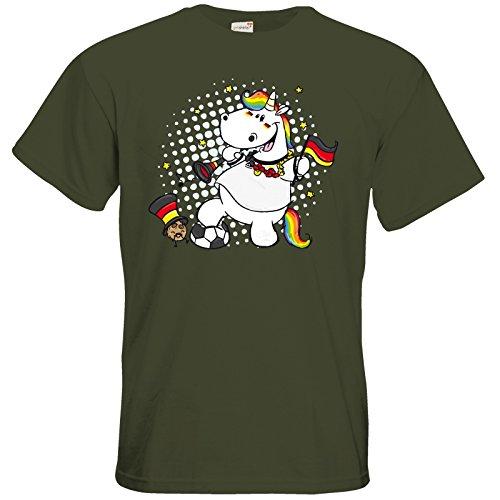 getshirts - Pummeleinhorn - T-Shirt - Fussball Pummel Khaki