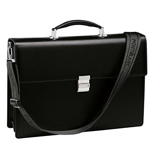 Montblanc Meisterstuck doble refuerzo maletín en negro