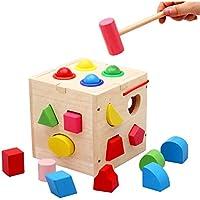 Preisvergleich für Hukangyu1231 Babyspielzeuge, pädagogische Spielwaren der Kinder Siebzehn Loch Knocking Ball Form gepaart mit Kinder Früherziehung Spielzeug für Kleinkind Jungen Mädchen Alter 2 +