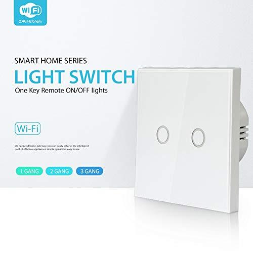 Preisvergleich Produktbild YAMEIJIA NEO WiFi EU Light Switch 2Gang 2 Smart Wireless European Standard 2 Street Light Control WiFi Series