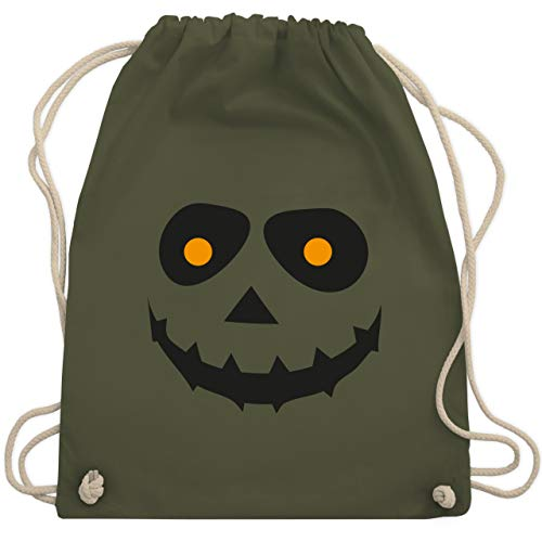 Halloween - Gruseliges Gesicht Fasching - Unisize - Olivgrün - WM110 - Turnbeutel & Gym Bag