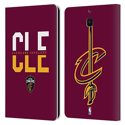 Head Case Designs Offizielle NBA Typographie 2019/20 Cleveland Cavaliers Leder Brieftaschen Huelle kompatibel mit Samsung Galaxy Tab A 8.0 2018 -