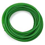 FTVOGUE Nastro trasportatore in poliuretano verde Superficie ruvida PU Rotolo per cintura in uretano rotondo per trasmissione trasmissione (2mm * 10m)(5mm*10m)