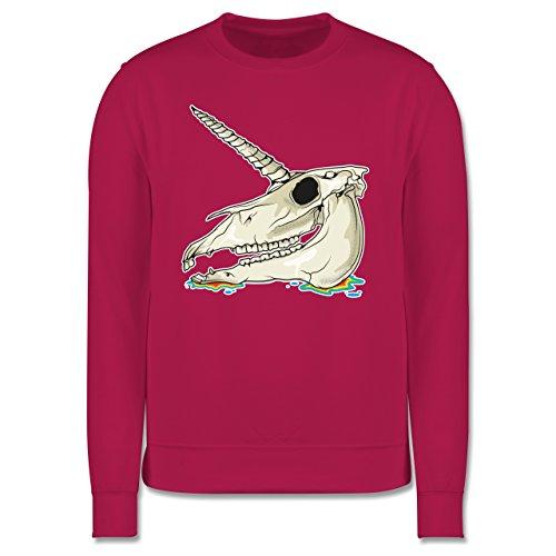 Statement Shirts - Einhorn Totenkopf - Herren Premium Pullover Fuchsia