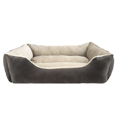 Lvrao letto cuccia cuscino per cani gatti animali casa morbido accogliente caldo rettangolare divano lettino cestino per cane (grigio, 60*48*18cm)