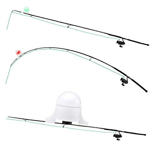 Lampe Lumière Détecteur Morsure Equipment pour Canne à Pêche Pêcheur Blanc
