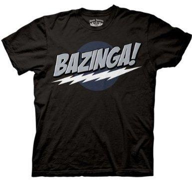 Big Bang Theory - Mens Bazinga Black T-shirt