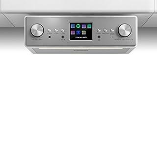 auna TESTURTEIL: SEHR GUT Connect Soundchef • Unterbau-Radio • Küchenradio • Unterbau-Digitalradio • DAB+ • UKW • WLAN • 2 x 3-Boxen • 10 Senderspeicherplätze • Fernbedienung • weiß