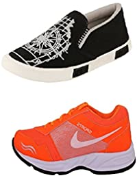 Jabra Perfect Combo Of 2 Shoes- Sneakers And Loafers In Various Sizes - B06XVYW7NJ