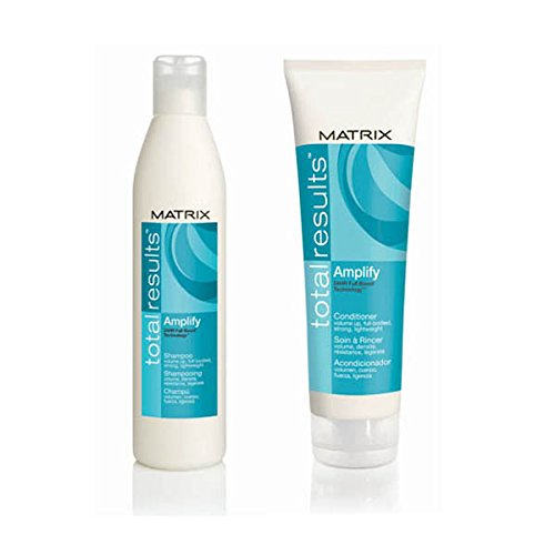 Duo de Total Results Amplify Shampoing volume 300 ml + Total Results Amplify Après-shampoing Volume 250 ml