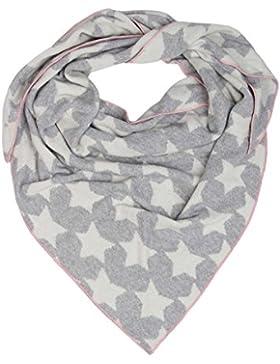 Dreieckstuch mit Kaschmir - Hochwertiger Schal mit Sternen für Damen Jungen und Mädchen - XXL Hals-Tuch und Damenschal...