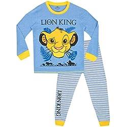 Disney - Ensemble De Pyjamas - Lion King - Garçon - Bleu - 4-5 Ans