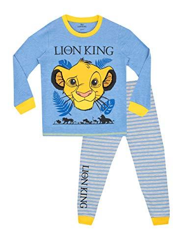 Disney pigiama a maniche lunghe per ragazzi lion king blu 3 - 4 anni