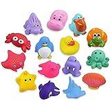 Lictin 15 Set Giochi da Bagno per Bambini Giocattoli - Set di Giocattoli per Il Bagnetto per Bambini Giocattoli da Bagno gall