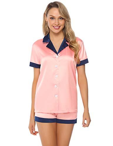Hawiton Women's Satin Pyjamas Se...