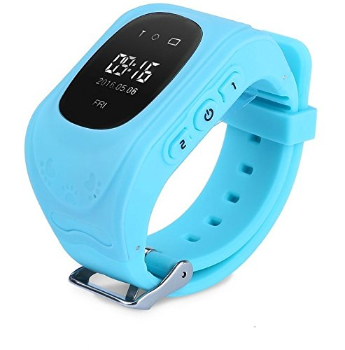 ELEPAIO TM Kids Baby Tracker LED Display (Version-2018) Kid Smart Wrist Band Child Safety, SOS Calls, Anti-Lost for Tracking (SkyBlue)
