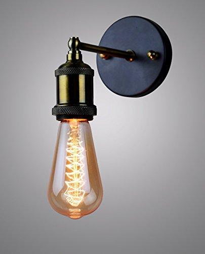 Glitz Edison Wall Lamp Antique Vintage Industrial Loft, E27 Holder, Decorative, Urban Retro Style, Black Powder Coated